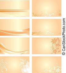 オレンジ, 名刺, 背景