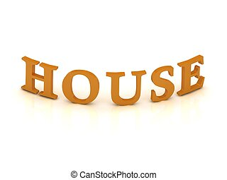 オレンジ, 家, 手紙, 印