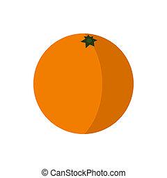 オレンジ, 平ら, スタイル, アイコン