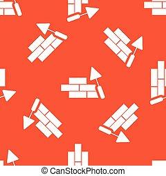 オレンジ, 建物, 壁, パターン