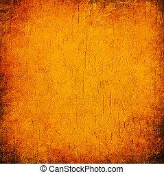 オレンジ, 抽象的, グランジ, 背景