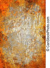 オレンジ, 抽象的, グランジ, 背景, 手ざわり