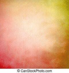 オレンジ, 抽象的, グランジ, 赤い背景
