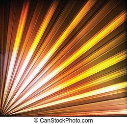 オレンジ, 抽象的, ベクトル, ライン, 黄色