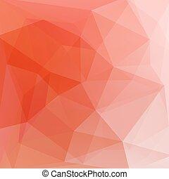 オレンジ, 抽象的, ベクトル, 三角形, 背景
