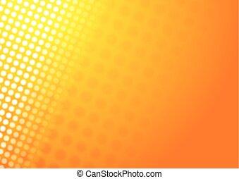 オレンジ, 抽象的, 光沢がある, 背景