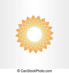 オレンジ, 抽象的, 星, 背景