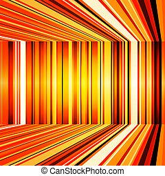 オレンジ, 抽象的, 曲げられた, ストライプ, 黄色