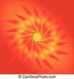 オレンジ, 抽象的, 背景, 円