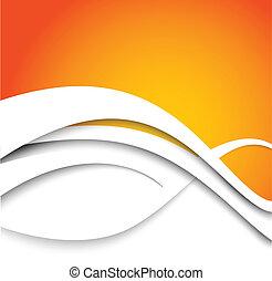 オレンジ, 抽象的, 背景