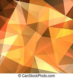 オレンジ, 抽象的, 黄色の背景