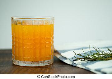 オレンジ, 新たに, 氷, ジュース