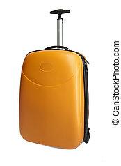 オレンジ, 旅行, スーツケース