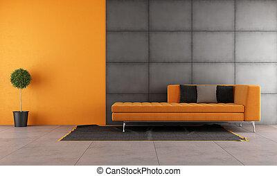 オレンジ, 暮らし, 黒, 部屋