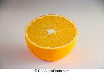 オレンジ, 柑橘類, orange., 半分