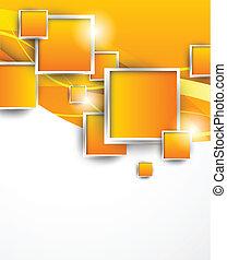 オレンジ, 正方形, 背景