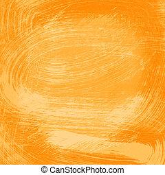 オレンジ, 水彩画, 抽象的, 手ざわり, 背景