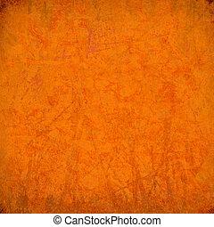 オレンジ, 筋を付けられた, グランジ, 背景