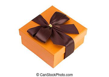 オレンジ, 箱, ブラウン, 弓