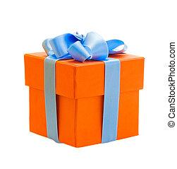 オレンジ, 箱, 贈り物