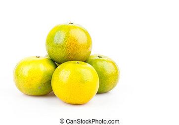 オレンジ, 緑