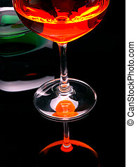 オレンジ, &, 緑, 飲み物