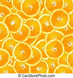 オレンジ, 背景, に薄く切る