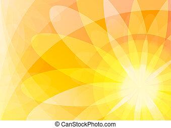 オレンジ, 花, 抽象的, 壁紙, 背景