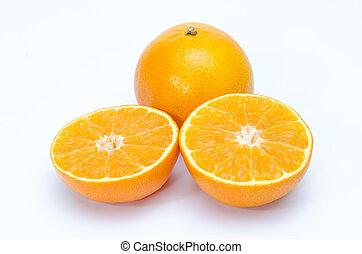 オレンジ, 薄く切られる, 背景
