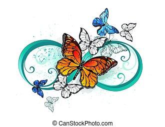 オレンジ, 蝶, 無限点