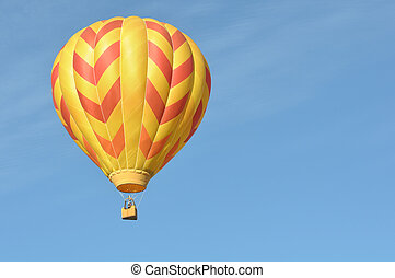 オレンジ, balloon, 熱い黄色, 空気