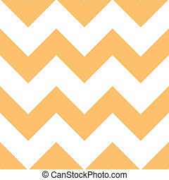 オレンジ, creme, 山形そで章, パターン