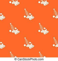 オレンジ, demolish, ベクトル, トラック, パターン