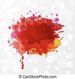 オレンジ, splashes., 水彩画, 背景