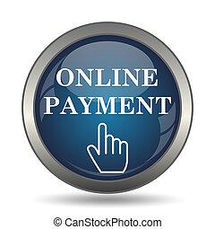 オンラインで, アイコン, 支払い