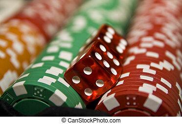 オンラインで, ギャンブル, カジノ