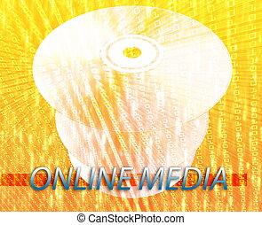オンラインで, デジタルの媒体