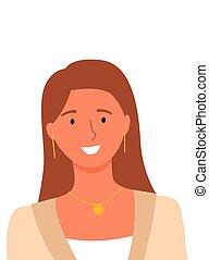 オンラインで, ヘルパー, 微笑, コンサルタント, userpic, 女