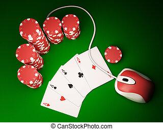 オンラインで, ポーカー