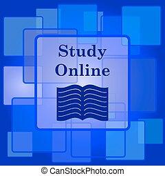 オンラインで, 勉強しなさい, アイコン