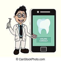 オンラインで, 歯科医, 相談しなさい