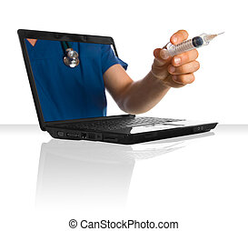 オンラインの医者