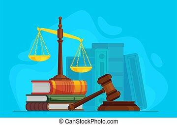 オークション, 判断, 法律, シンボル, 裁判官, 立法, 木製である, justice., ベクトル, 正義, 裁判...