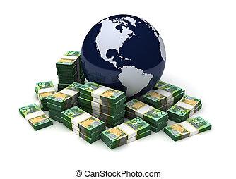 オーストラリア人, 世界的である, ドル, ビジネス