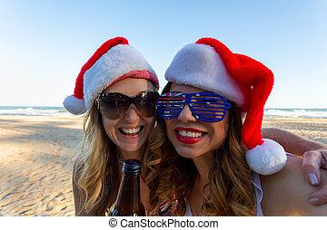 オーストラリア人, 時間, クリスマス, 楽しみ, 持つこと