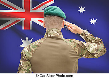 オーストラリア, 力, シリーズ, 国民, -, 旗, 背景, 概念, 軍