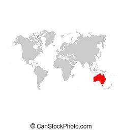 オーストラリア, 地図, 世界