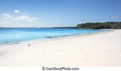 オーストラリア, 水, アクア色, 海岸, greenfields, 白い浜, 砂