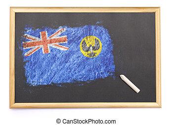 オーストラリア, 黒板, 国旗, 引かれる, on.(series), 南