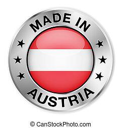 オーストリア, 作られた, バッジ, 銀